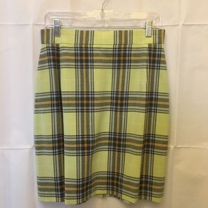 Escada Skirts - Escada Light Green Plaid Skirt 10 M Medium